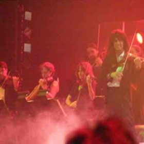 My string section lead by the great Mark Wood with the Trans Siberian Orchestra in 2007