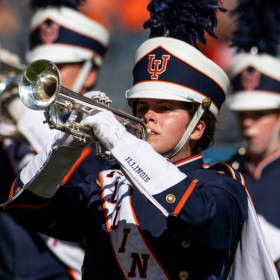Marching trumpet in the Nation's Premier College Marching Band, the University of Illinois Marching Illini!