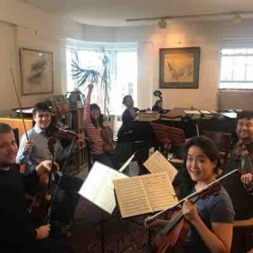 I host chamber music reading parties twice a year at my place.