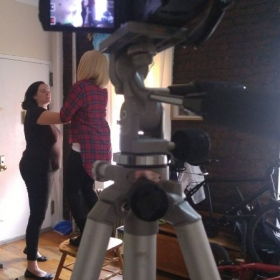 """A behind the scenes shot from my short film, """"More Than Stardust."""""""
