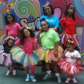 We had a fun classes of learning how to make tutu's . They enjoyed the class and the sets