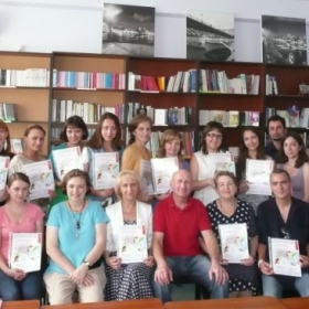 The end of teacher's workshop 'Comics as a tool to learn a foreign language'.