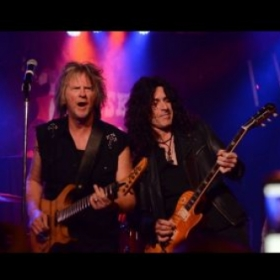 Me and Jimmy Burkhard (ex-Billy Idol) tearing it up at The Whisky a Go Go in West Hollywood,CA 12/08/2018