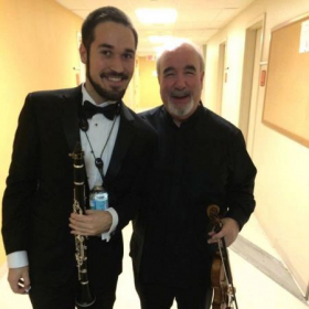 With the amazing Glenn Dicterow of the NY Phil.