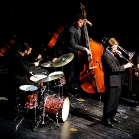 Performing with my jazz combo in 2014 at the annual Mosaic Concert hosted by the Penn State School of Music.