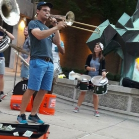 Performing with Big Boy Brass in Lancaster, PA.