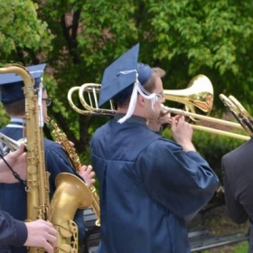 Parading the graduating music students through at my graduation from Penn State University.