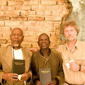 Some gentlemen that I had the privilege of leading to the Lord in Zimbabwe. They had just prayed to accept Jesus, and we gave them Bibles.