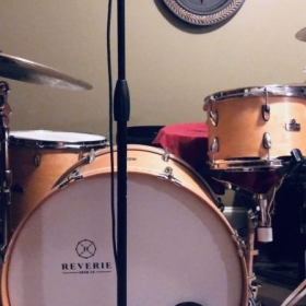 Students will love my kit! It's a Reverie Custom Vintage Maple series paired with Heartbeat Cymbals.