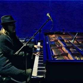 Me at the Blue Whale Jazz Club in Los Angeles