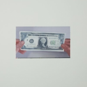 Painting of a dollar bill