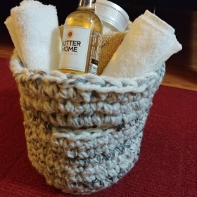 Beautiful Crochet Bath Basket