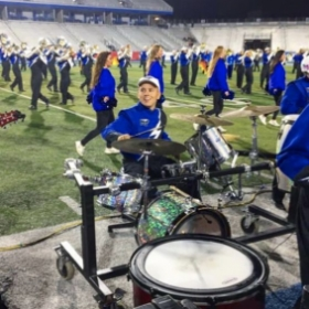 Playing Drumset during halftime with the Middle Tennesse Band of Blue!