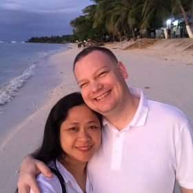 With my darling fiance' in the Philippines.