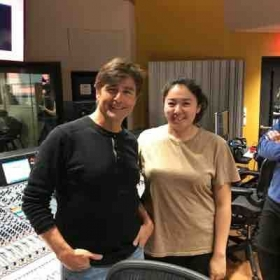 With legendary Thomas Newman during his visit to Berklee College of Music, 2017