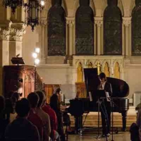 Playing avant-garde new classical music, Holy Cross cathedral, 2016