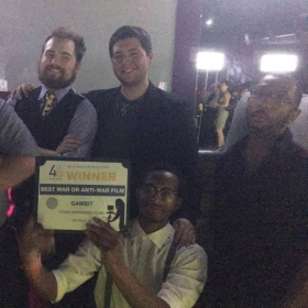 """Our Film """"Gambit"""" Won The Best of its Genre Award in the 48 hour Film Project Festival! I was The Assistant Director (AD)"""