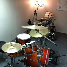 The two full drum kits, set up in my teaching/rehearsal space, have proven to be an exceptional teaching tool!