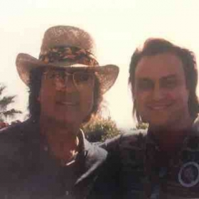 With Englebert, another entertainer whose talent inspired me...