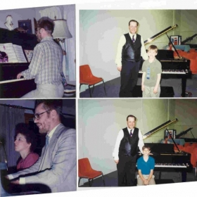 Some piano students taught by Daniel Roy