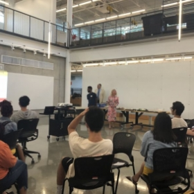 Presenting at the Fall 2018 Multicultural Student Welcome Dinner