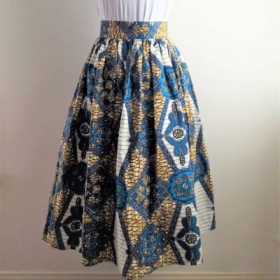 Cotton gathered skirt