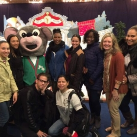 Holiday outing with my students.