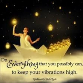 The higher your vibe, the more positive energy you have to fuel your dreams!