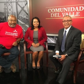 Interview by Damian Trujillo, from NBC, Bay Area was all in Spanish.