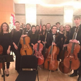 The University of Georgia cello studio after one of our UGASO concerts