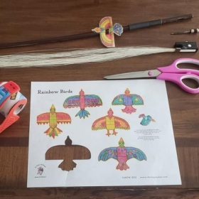 Rainbow Birds at TheToyMaker.com