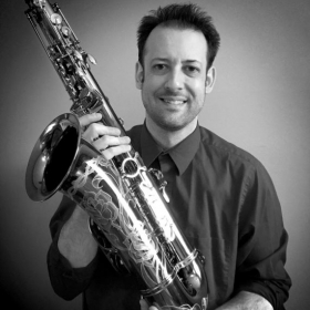 With one of our new Santee 2C4 Pro-Fusion professional tenor saxophones!