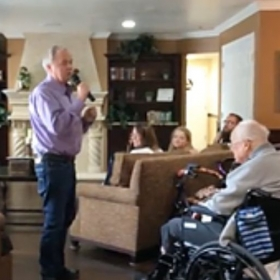 Singing with Kait offers opportunities to perform in retirement residences and brighten the day of a seasoned stranger with your song...