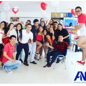 Valentine's Day - my class in Colombia