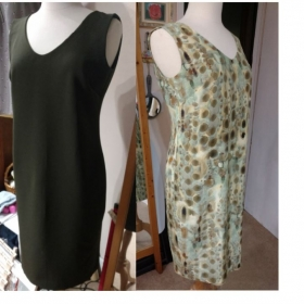 These two dress were drafted for a customer that likes things to fit just right. She has a better figure than my dress form.