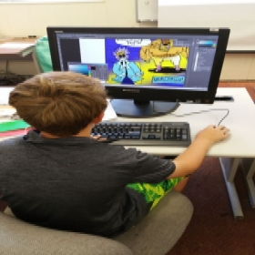 A student from my Comic Book Making Class at Cuesta College For Kids. (Summer of 2017)