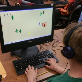 A student from my Video Game Coding Class at Cuesta College For Kids. (Summer of 2018)