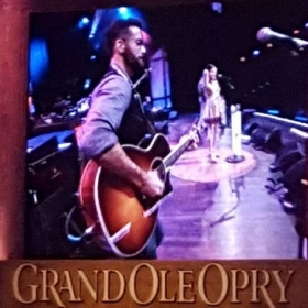 Supporting Rainey Qualley at the Grand Ole Opry.