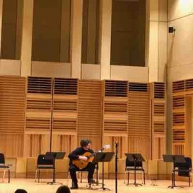 My last classical guitar show at NEIU.