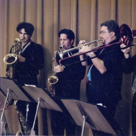 "Left Coast horn section with the ""Rockin' Thru the Years"" Rock and Roll review show.  I was also co-writer of the charts."