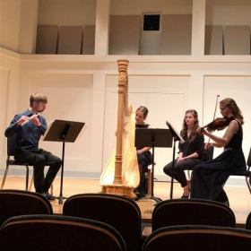 Performing Claude Debussy's Sonata for Flute, Viola, and Harp