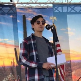 Here I am MCing at the 2019 Marana Bluegrass Festival