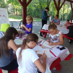 Art class at the Gurney Lane Rec Center in Queensbury.