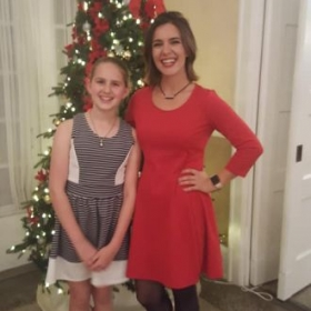 At the Winter Recital in 2018 with one of Kammerer Music's talented students!