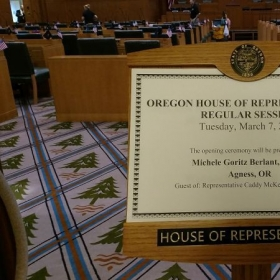 Special Invite to play an original piece at the House of Representatives in Salem, Oregon.