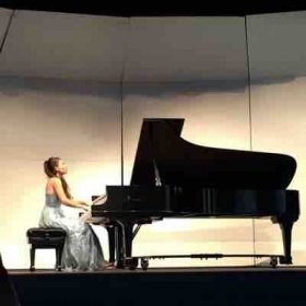 Performing my junior recital.