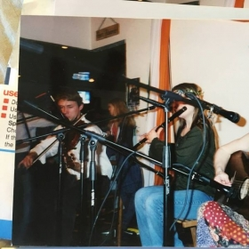 Fiddler's Hearth, South Bend, Indiana, early 2000s, with Autumn Rhodes and Sean Hoffmann (not pictured).