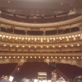 Performers perspective of Carnegie Hall