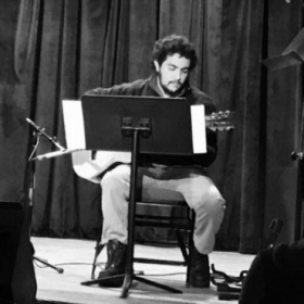 Playing a recital at Berklee College of Music