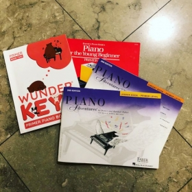 These are some of the method books I use for younger students depending on age and ability!